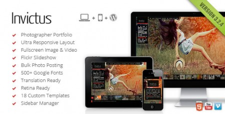 Invictus – A Premium Photographer Portfolio Theme