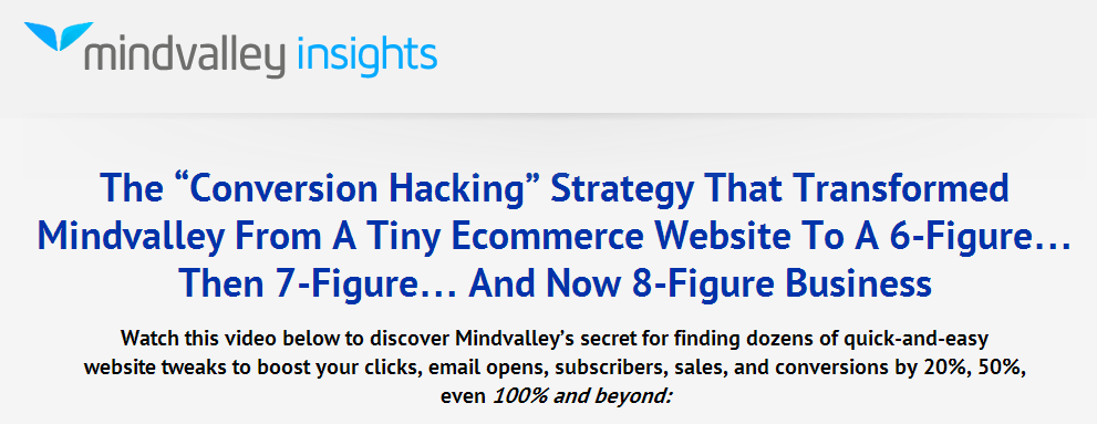 Mindvalley Insiders - Conversion Hacking