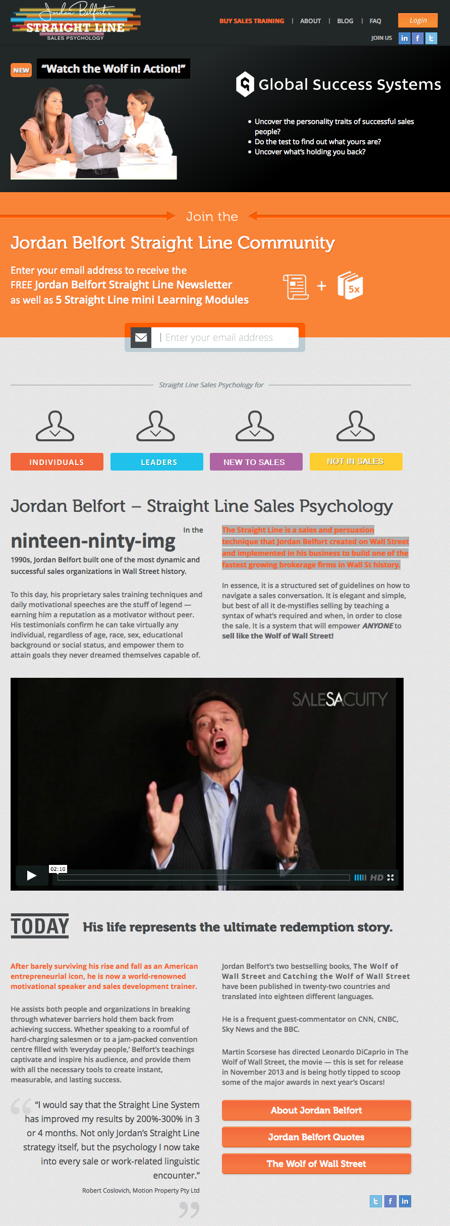 Jordan Belfort – Straight Line Sales Psychology – $599