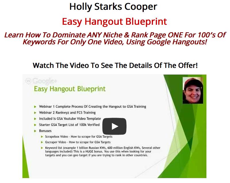 Holly Cooper Easy Hangout Blueprint Main+OTO