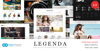 Legenda – Responsive Multi-Purpose WordPress Theme – Value $58