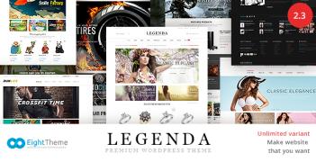 Legenda – Responsive Multi-Purpose WordPress Theme – Value $58