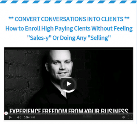 Lee McIntyre – How to Enroll High Paying Clients Without Selling