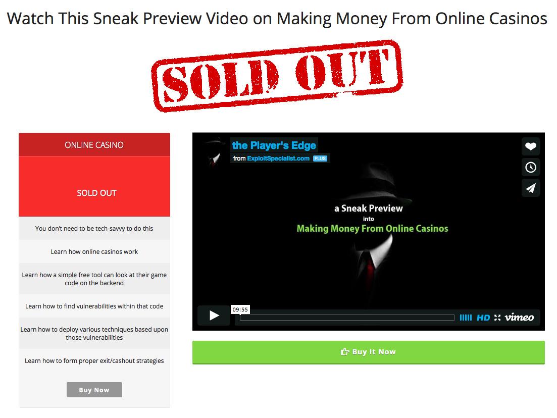 Making Money from Online Casino