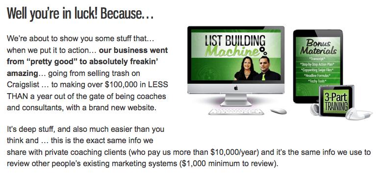 Marketing Your Purpose – List Building Machine + BONUS Fabulocity Training