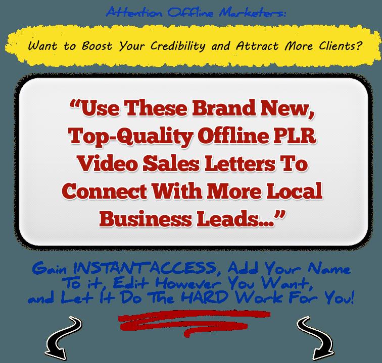 offline marketing simplified with plr