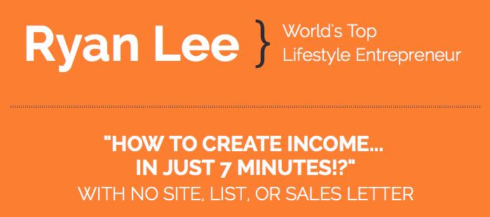 7-Minute Income - Ryan Lee