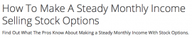 How To Make A Steady Monthly Income Selling Stock Options