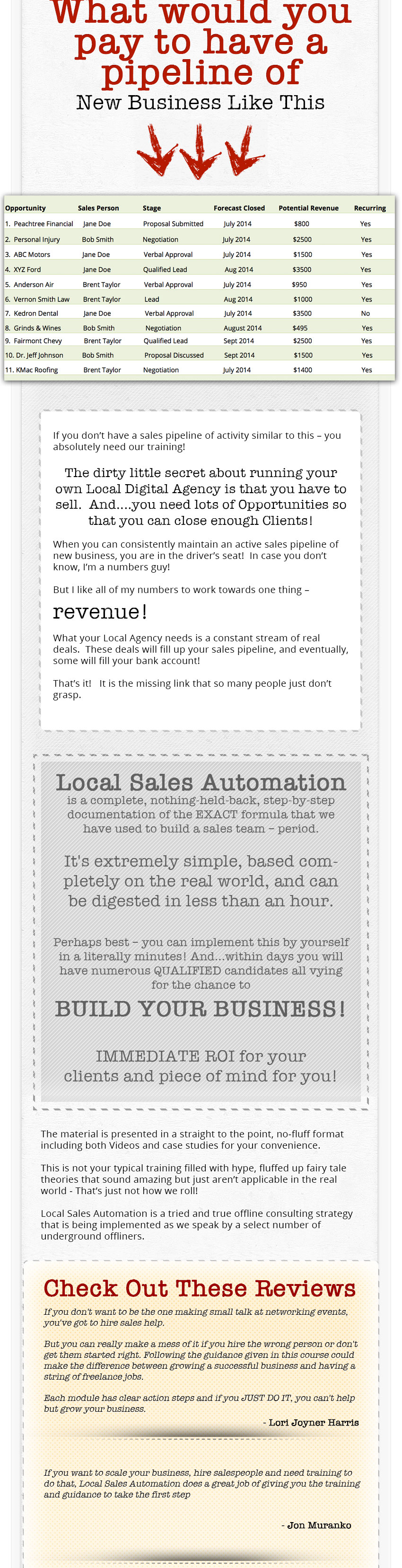 Local Sales Automation by Kevin Wilke, Ed Downes, Brian Anderson WSO_04