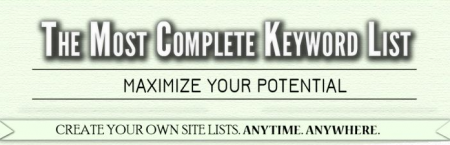 MOST COMPLETE GSA Keyword Scraping List