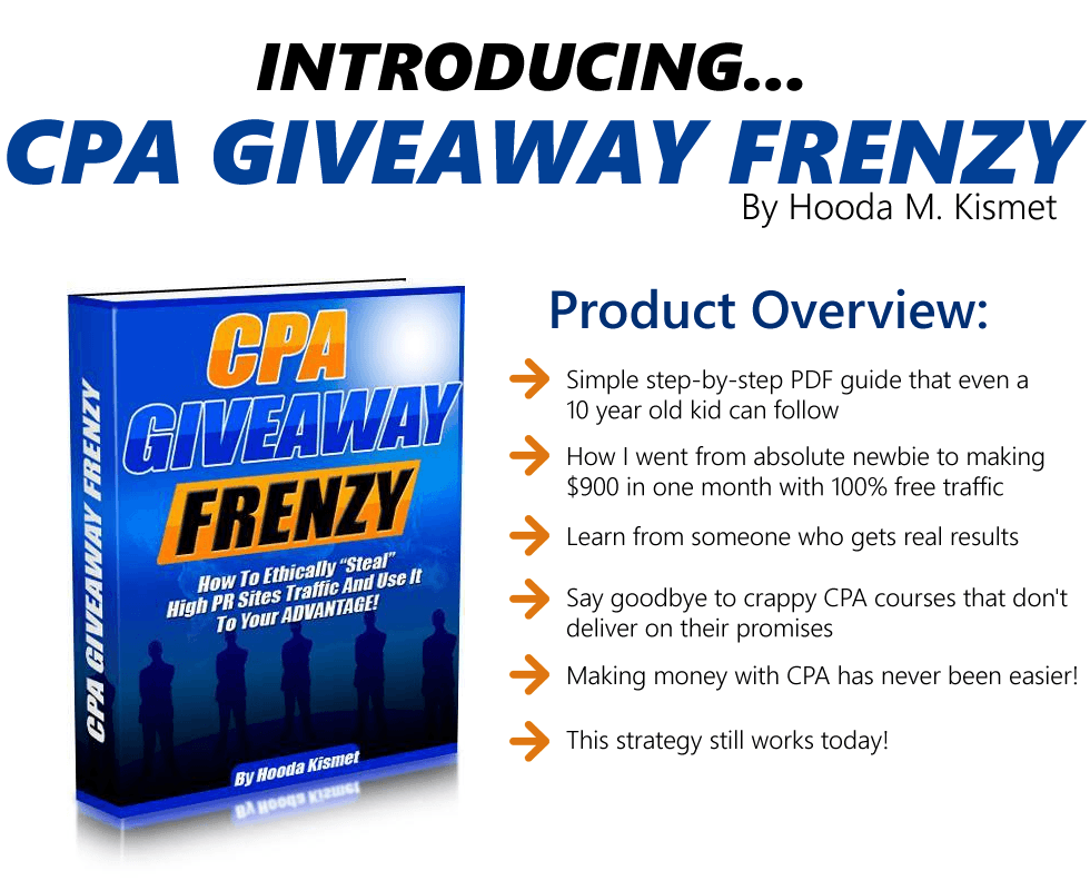 CPA Giveaway Frenzy + OTO ProductOverview