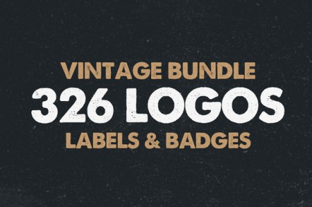 MEGA BUNDLE 326 Vintage Logos Badges