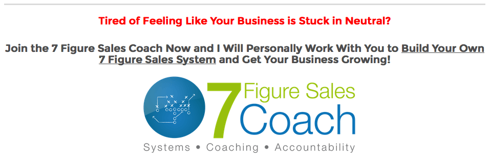 7 Figures Sales Coach Program 2