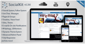 SocialKit – Social Networking Platform V1.3.6. with all ADDONS – Value $40+