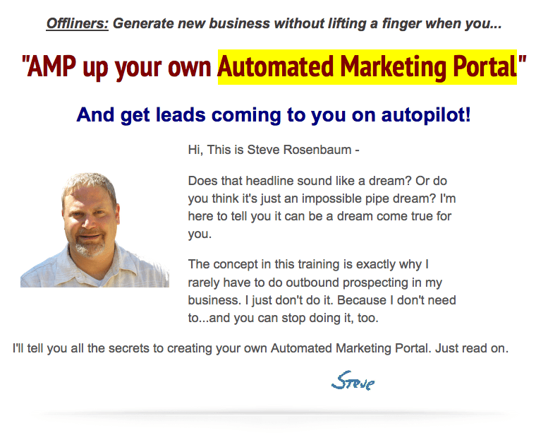 Automated Marketing Portal