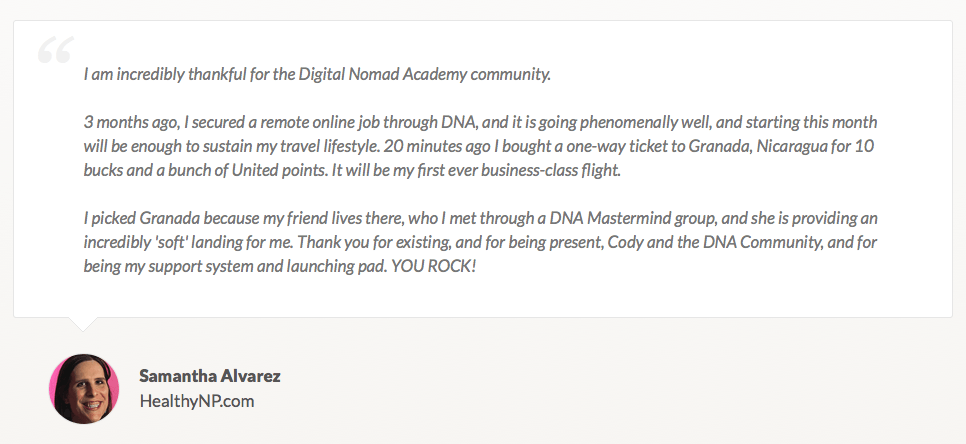 Digital Nomad Academy - Build a Location Independent Lifestyle Business