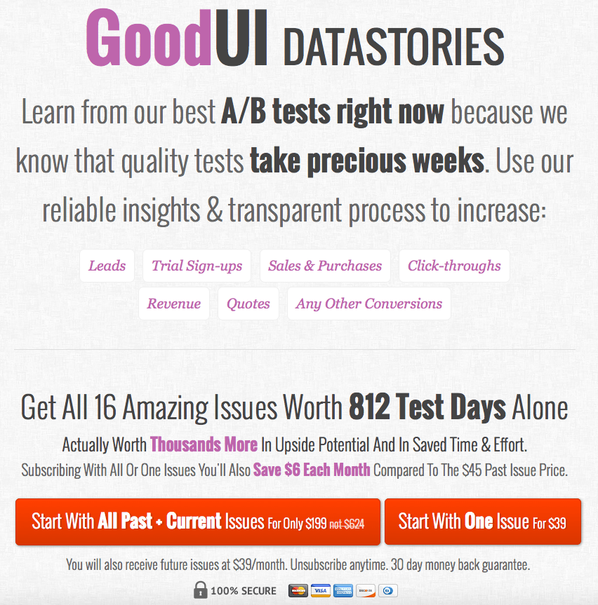 GoodUI – Highest Converting Landing and Sales Page Templates