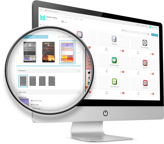 Mobile Site Builder Pro apps-left