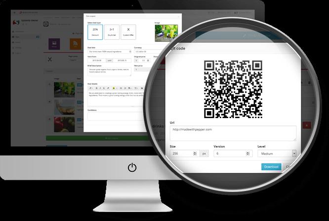 Mobile Site Builder Pro visual-front-qr