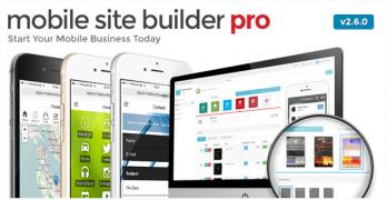 Mobile Site Builder Pro – Value $37