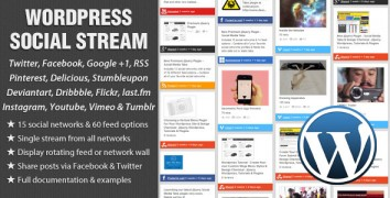 WordPress Social Stream – Value $19