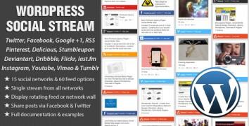 WordPress Social Stream – Value $19
