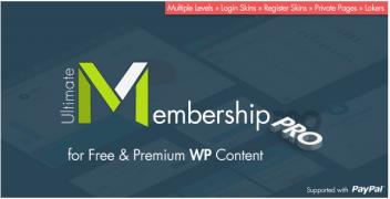 Ultimate Membership Pro WordPress Plugin – Value $30