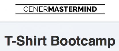 T-Shirt Boot camp with Justin Cener – Value $497