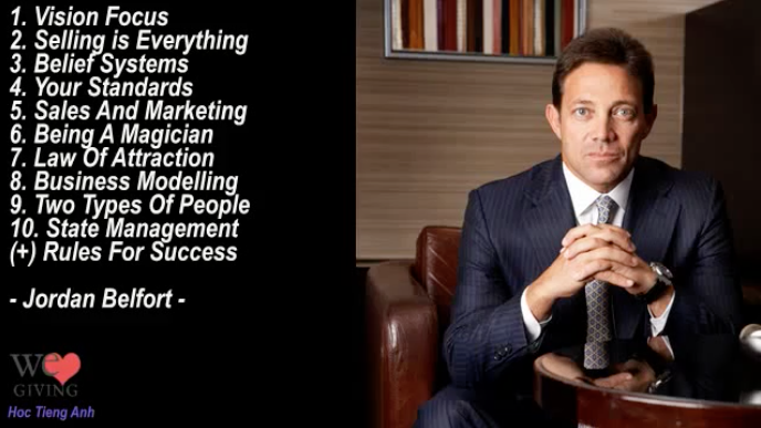 Jordan Belfort - Top 10 Personal Development Advice