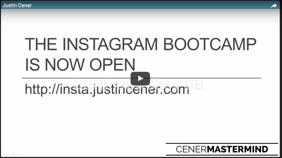 Justin Cener – Instagram Bootcamp – Value $597
