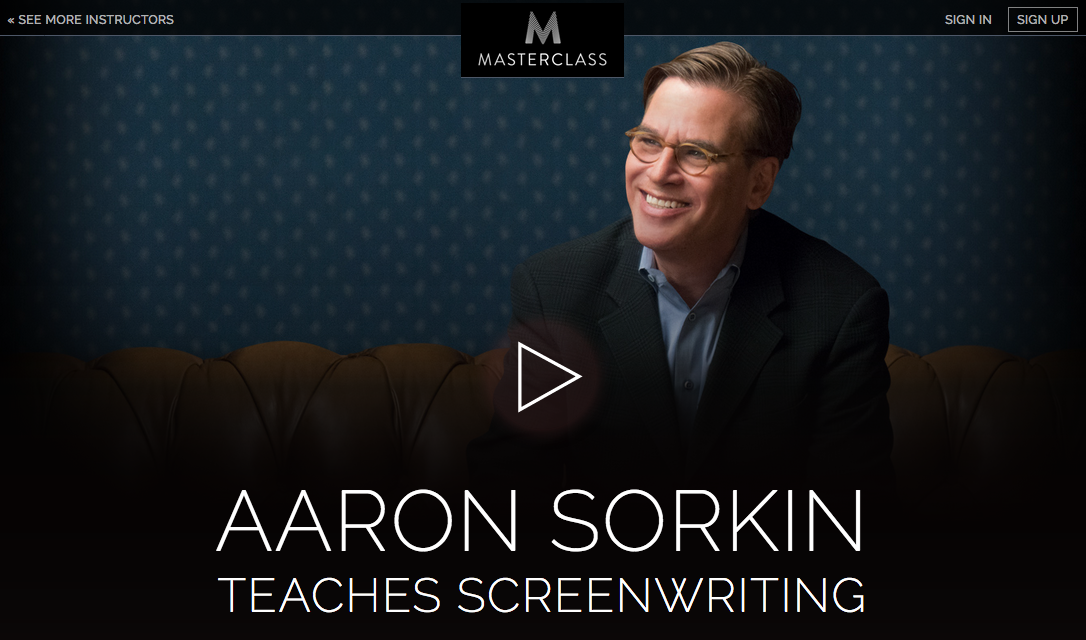 The Book that Helped Aaron Sorkin Write His First Screenplay and Understand Screenwriting