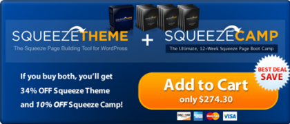 Squeeze Camp Theme & Plugin – Value $247