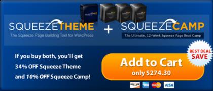 Squeeze Camp Theme & Plugin – Value $247