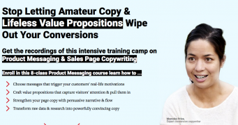 ConversionXL – Product Messaging & Sales Page Copywriting – Value $499