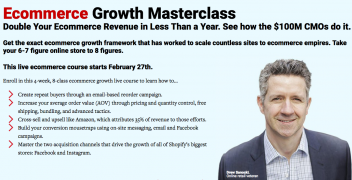 ConversionXL – Ecommerce Growth Masterclass – Value $499