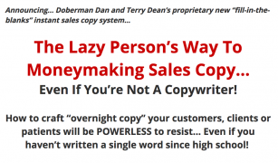 Doberman Dan and Terry Dean – 60 Minute Copy Cure – Value $598