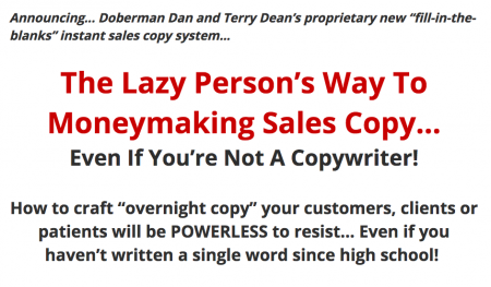 The Lazy Person's Way To Moneymaking Sales Copy