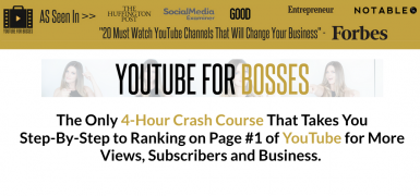 Sunny Lenarduzzi – YouTube for Bosses – Value $597