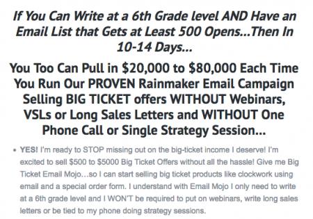 Big Ticket Email Mojo