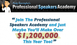 Andy Harrington – Professional Speakers Academy – Value $737