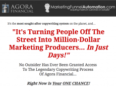 The Agora Financial Copy School System – Value $2900