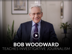 Bob Woodward – Teaches Investigative Journalism