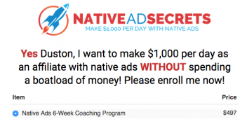 Duston McGroarty – Native Ads Academy – Value $497