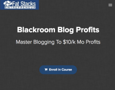 Jon Dykstra – Blackroom Blog Profits 2018 – Value $997