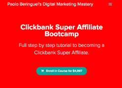 Paolo Beringuel – Clickbank Super Affiliate Bootcamp – Value $4997