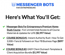 Nick Moreno – Messenger Bots for Entrepreneurs – Value $1497