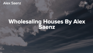 Alex Saenz – Wholesaling Houses – Value $497