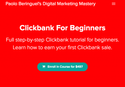 Paolo Beringuel – Clickbank For Beginners – Value $497
