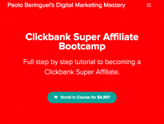 Paolo Beringuel – Clickbank Super Affiliate Bootcamp – Value $4,997