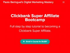 Paolo Beringuel – Clickbank Super Affiliate Bootcamp – Value $4,997